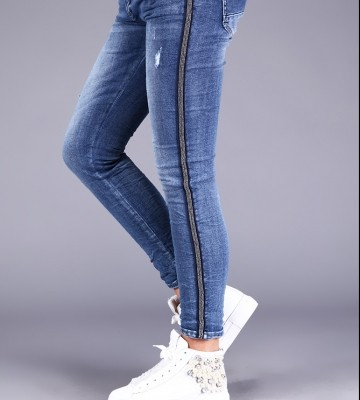 LUXURY❤ONLINE: Woman's trousers MELLY&CO colour blue, pants